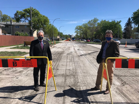 Road repaving thanks to federal gas tax funding