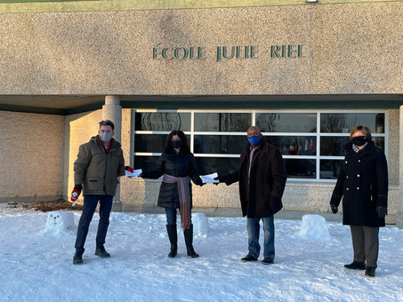 Wellness Grant for École Julie Riel - February 19, 2021