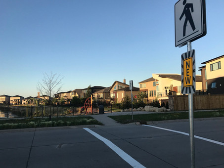 New crosswalk on Edward Turner Drive!