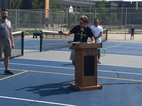 Grand opening of the new Tennis/Pickleball courts in Sage Creek