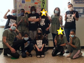 Black History Month T-shirts a hit at Hastings School!
