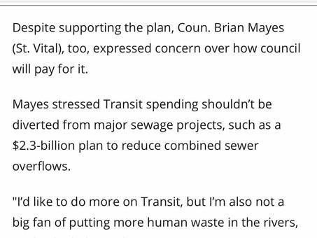 Media Roundup - Transit Master Plan