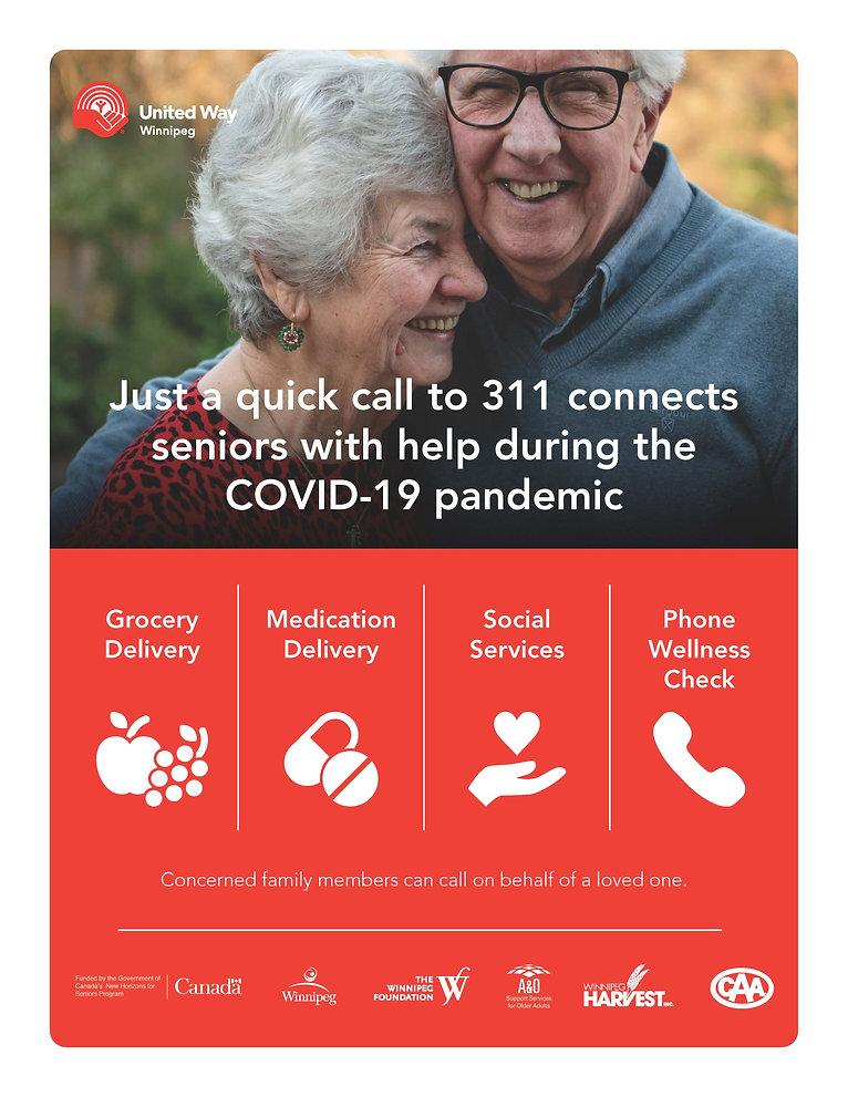 311 Seniors Helpline Poster - United Way