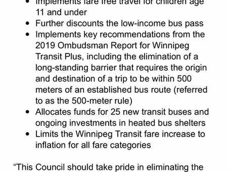 Transit in the 2021 budget highlight