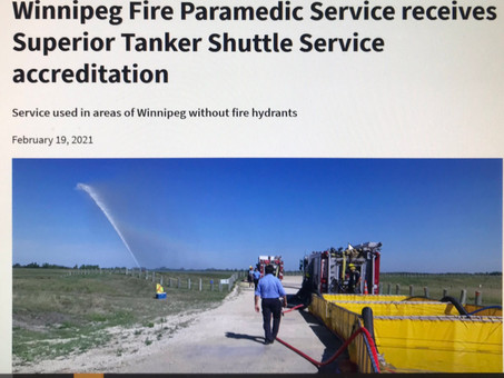 February 19, 2021 - WFPS Tanker Shuttle Service accreditation