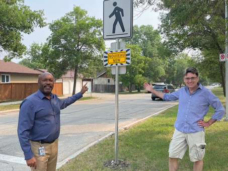 New crosswalk!