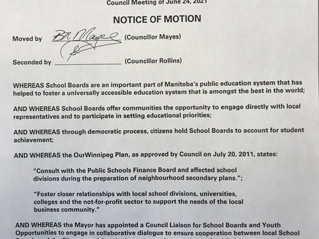 Motion to retain elected school trustees