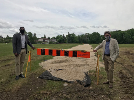 New trail at Shirley Render Park