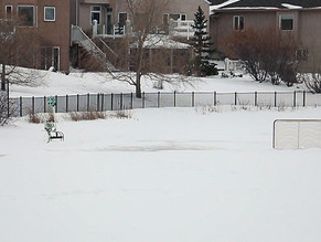 Retention Ponds are not for winter fun!
