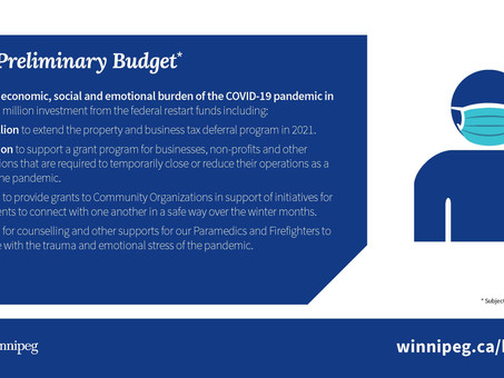 Highlights from the City of Winnipeg's 2021 Preliminary Budget