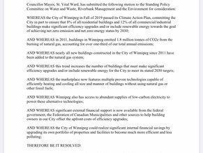 Motion with Councillor Schreyer
