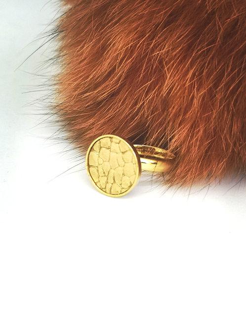 Ring in goud roggenprint. M75.