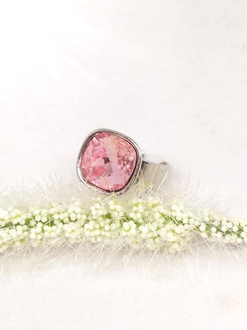 Ring in roze swarovski N351