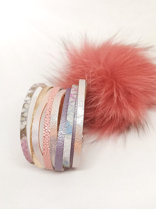 Armband multicolor pastel N50
