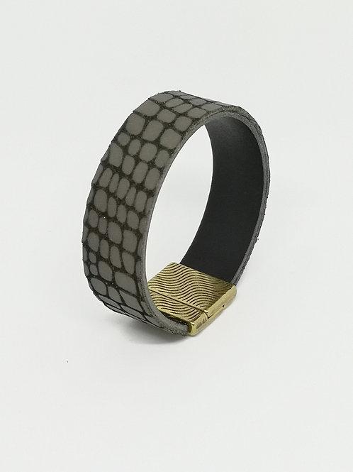 Armband in rundsleder, taupe. O423