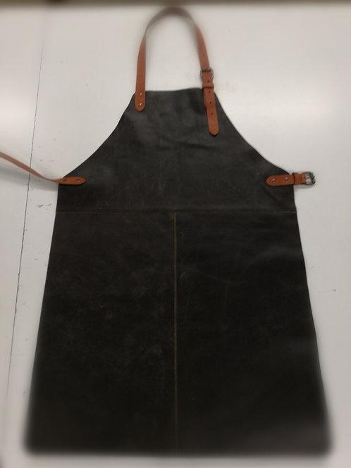 BBQ schort in splitsleder zwart