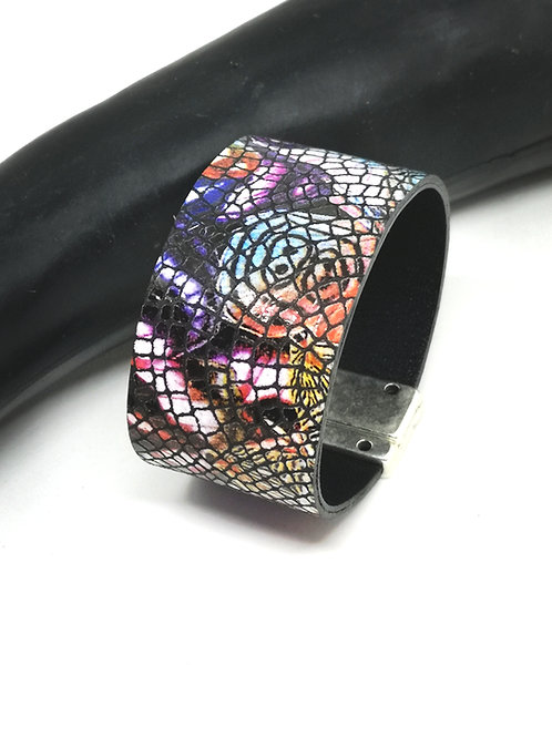"Armband in multicolor craquelé ""picasso"" P201"
