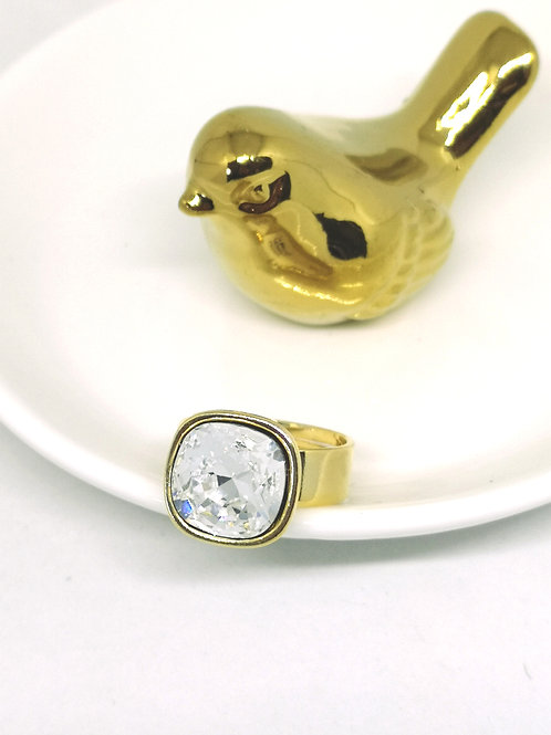 Ring ingelegd met Kristal swarovski M219
