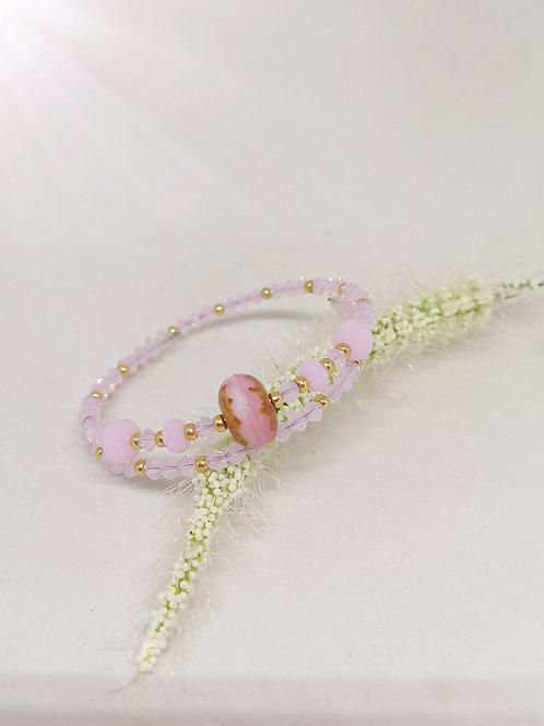 """Armband """"roze swarovski"""" M686"""