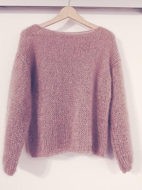 pullover silk mohair oud roze