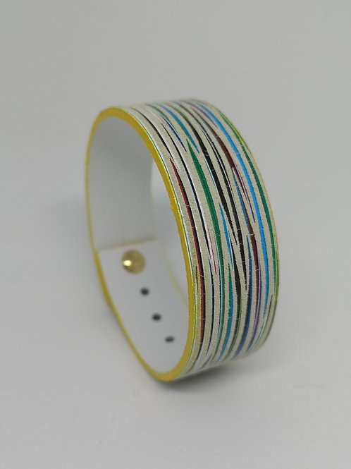 Armband in multicolor, geel. M20