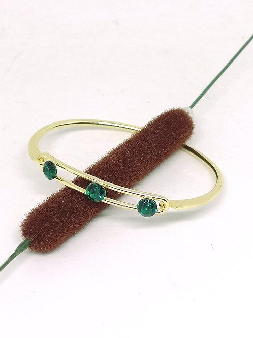Armband 3 x emerald groene swarovski M40