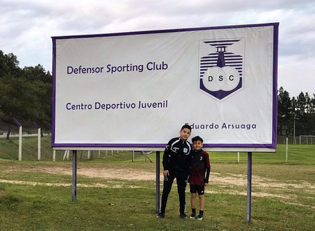 Beyond Sports Management Players and Staff Train at Defensor Sporting Club in Montevideo, Uruguay