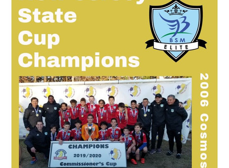 2006 Cosmos Crowned NJ Youth Soccer Commissioners Cup Champions!