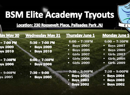 Players Tryout Schedule!