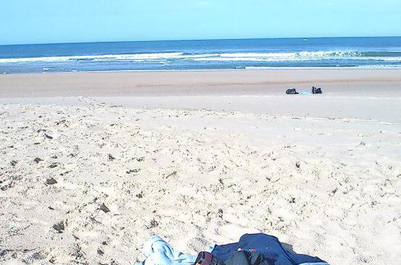Pristine beach in Laredo
