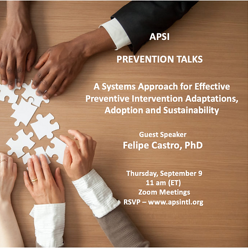 A Systems Approach for Effective Preventive Intervention Adaptations, Adoption and Sustainability