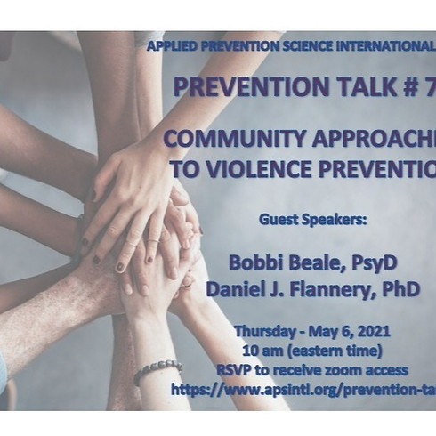 Prevention Talk # 7: Community Approaches to Violence Prevention