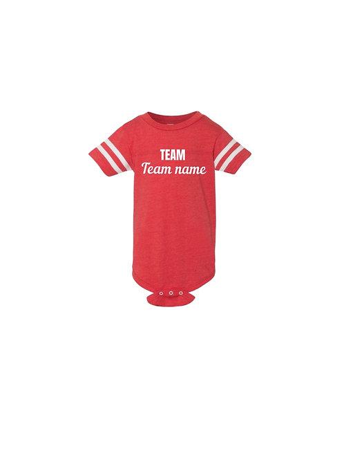 Custom Infant Football Team Jersey Bodysuit