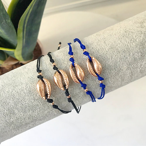 Gold Cowrie Shell Bracelet / Anklet