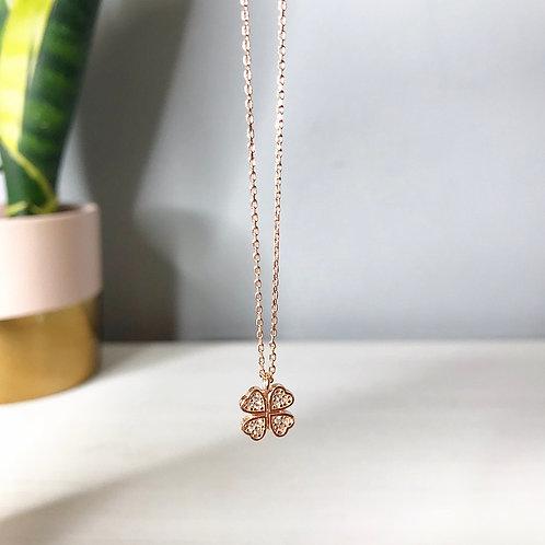 Lucky Four Leaf Clover Pendant Necklace