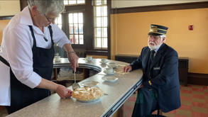 Railway Pie Served at the Lunch Counter