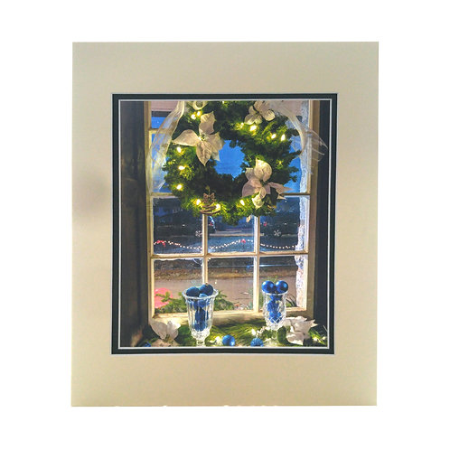 Print - Wreath on Window