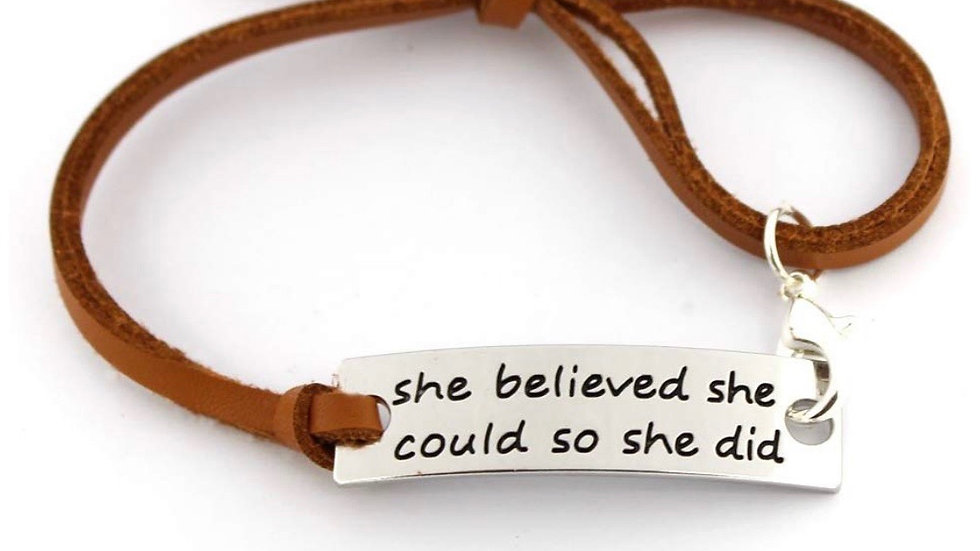 Queens motivational bracelet (BROWN)
