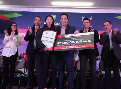 """Premio Estatal de la Juventud (Hidalgo) 2016""."
