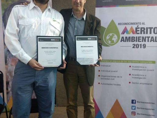 """Reconocimiento al Mérito ecológico del Estado de México """"Mención honorífica"""""""