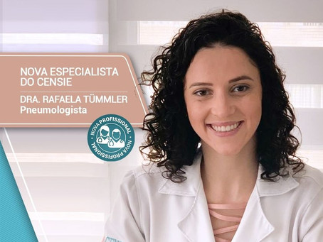 Nova especialista do CENSIE - Pneumologista