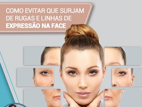 Como evitar que surjam rugas e linhas de expressão na face