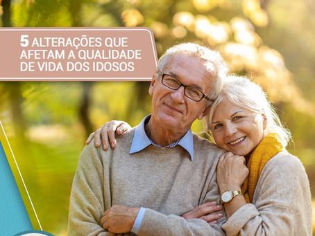 5 alterações que afetam a  qualidade de vida dos idosos