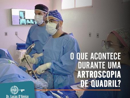 O que acontece durante uma artroscopia de quadril?