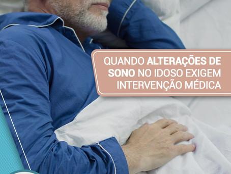 Quando alterações no sono do idoso exigem intervenção médica