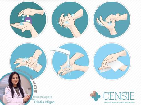 Cuidados com a pele das mãos e como higienizar corretamente