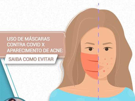 Uso de máscaras contra covid X aparecimento de acne