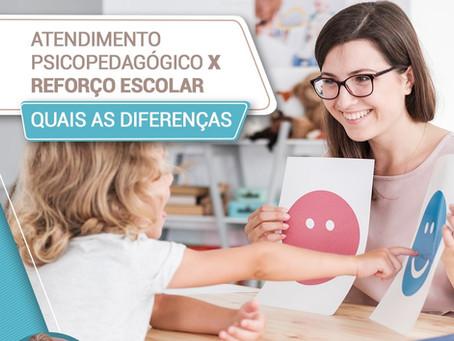 Atendimento psicopedagógico X reforço escolar. Quais as diferenças?