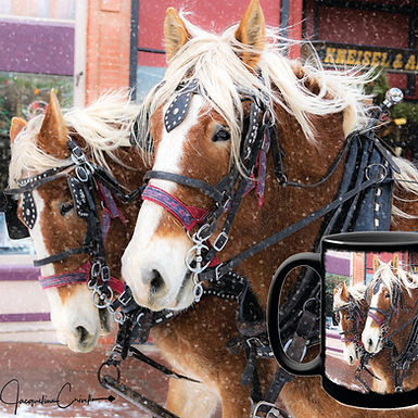 Christmas Clydesdales