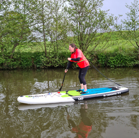 """""""Just had a fantastic 2hr lesson with the lovely Helen - very calm (& patient) and I really enjoyed learning on the River Medway. I would whole heartedly recommend her lesson - definitely have a newbie who is craving to do more. Thank you so much for your time and for sharing your wealth of knowledge and skills - a great teacher."""" - Claire C"""